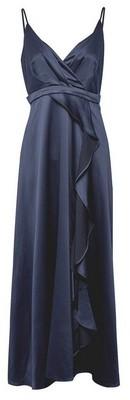 Dorothy Perkins Womens **Showcase Petite Navy Satin Maxi Dress
