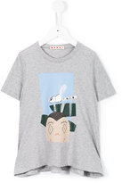 Marni person and insect print T-shirt