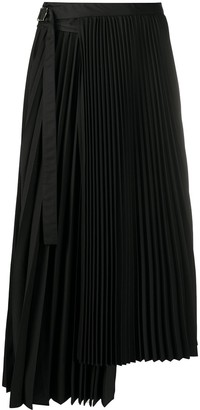 Sacai Wrap-Style Pleated Skirt