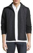 Michael Kors Quilted Zip Jacket with Neoprene Combo