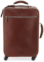 Brunello Cucinelli Leather Trolley Bag, Copper