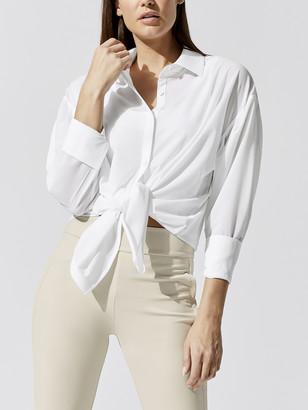 Carbon38 Stretch Sheer Button Up Shirt