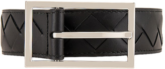 Bottega Veneta Belt in Black & Silver | FWRD