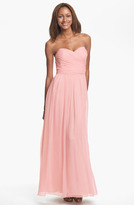 Jill Stuart Jill Strapless Silk Chiffon Sweetheart Gown