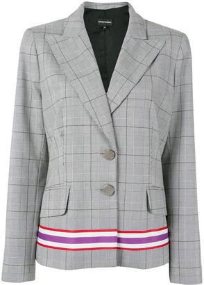 Emporio Armani Checked Tailored Blazer