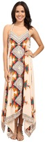 Free People Party Printed Ibiza Halter Dress