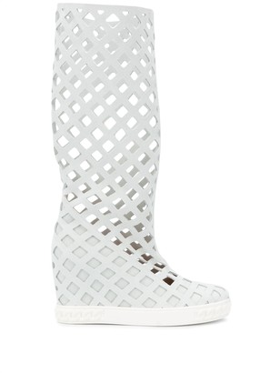 Casadei Checked Laser Cut Boots