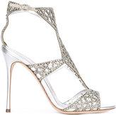 Sergio Rossi stone embellished sandals