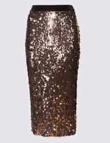 Marks and Spencer Sequin Midi Pencil Skirt