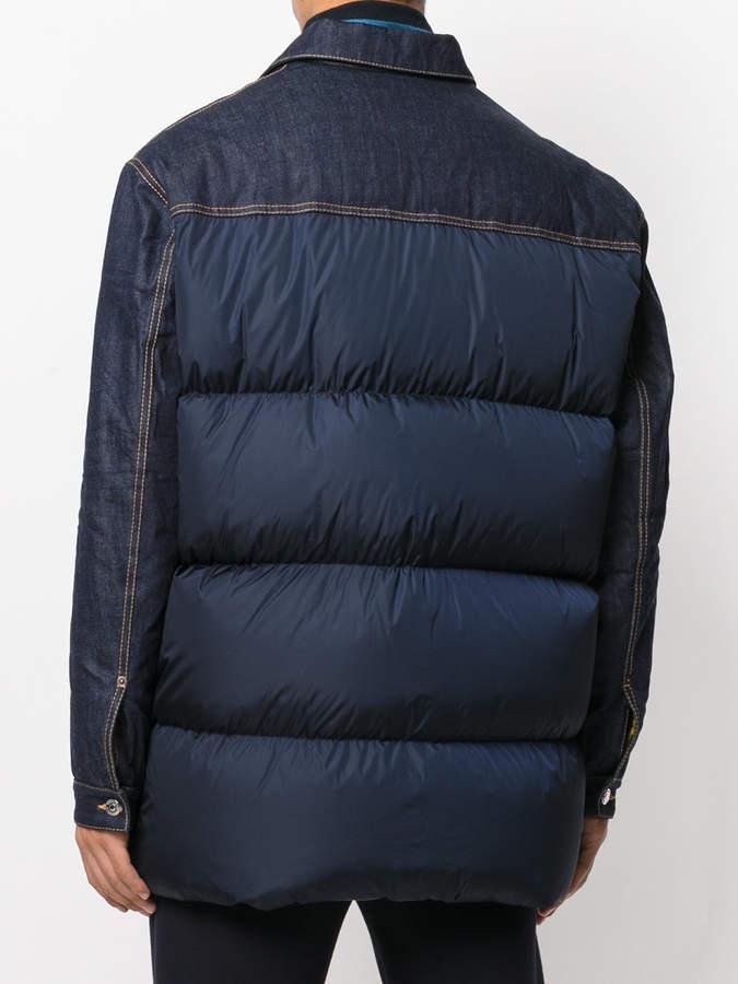 DSQUARED2 denim panel padded coat
