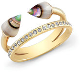 Vita Fede Ultra Mini Titan Abalone & Crystal Ring, Gold