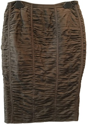 Gucci Brown Silk Skirt for Women Vintage