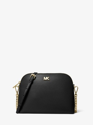 MICHAEL Michael Kors Large Crossgrain Leather Dome Crossbody Bag