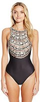 Mara Hoffman Women's Necklace Printed One-Piece Swimsuit