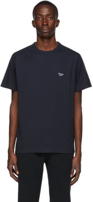 MAISON KITSUNÉ Navy Fox Patch Classic T-Shirt