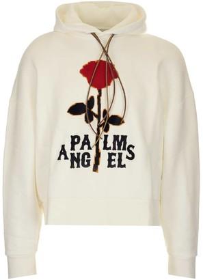 Palm Angels Rose Print Hoodie