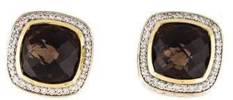 David Yurman Smoky Quartz & Diamond Albion Earrings