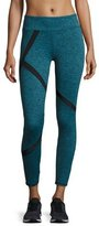 Lanston Alex Paneled Performance Leggings, Turquoise