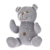 Beba Bean Animal Bear Rattle Polka Dot Grey