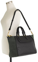 J.Crew Leather and suede satchel