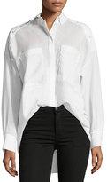 IRO Bocka Button-Down Long-Sleeve Wool Shirt