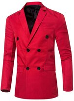 CFD Men's Casual Slim Fit Solid Button Closure Blazers Suit US-S