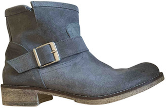 Benetton Grey Suede Ankle boots