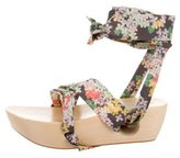 Band Of Outsiders Floral Platform Sandals