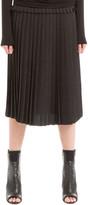 Max Studio Crepe Pleated Midi Skirt