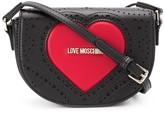 Love Moschino logo heart cross-body satchel