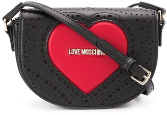 Love Moschino Logo Heart Cross-Body Satchel