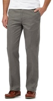Maine New England Grey Flat Front Chinos