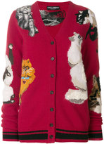 Dolce & Gabbana cat embroidered cardigan