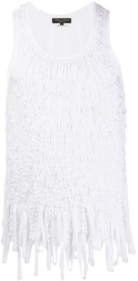 Comme des Garcons Pre-Owned 2000s fringed sleeveless top
