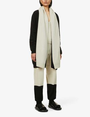 Frenckenberger Draped-collar cashmere cardigan