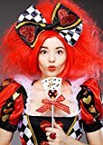 Leg Avenue Deluxe Womens Queen of Hearts Wig and Hair Bow