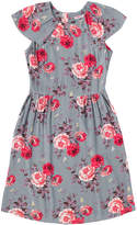 Cath Kidston Antique Rose Crepe Frill Detail Tea Dress