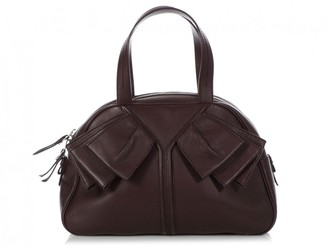 Saint Laurent Burgundy Leather Handbags