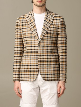 Havana & Co. Havana Co. Jacket In Patterned Linen And Cotton