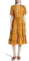 Sea Women's Cotton & Silk Staircase Ruffle Dress