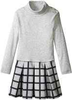 Petit Bateau Turtleneck Dress (Toddler/Kid) - Gray - 6