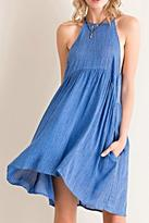 Entro Acid Wash Babydoll Dress