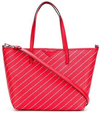Karl Lagerfeld Paris Striped Logo Shopper Bag