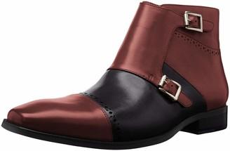 Stacy Adams mens Kason Cap Toe Double Monk Strap Side Zipper Chukka Boot
