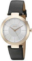 DKNY Women's 'Stanhope' Quartz Stainless Steel and Black Leather Casual Watch (Model: NY2468)