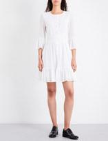 Claudie Pierlot Reverie embroidered cotton-blend dress