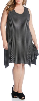 Karen Kane Stripe Handkerchief Hem Dress