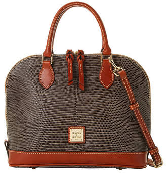 Dooney & Bourke Lizard-Embossed Leather Zip Zip Satchel