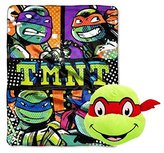 Nickelodeon Teenage Mutant Ninja Turtles Plush Throw and Face Pillow Toy - Kids