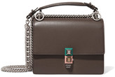 Fendi Kan I Leather Mini Shoulder Bag - Dark gray